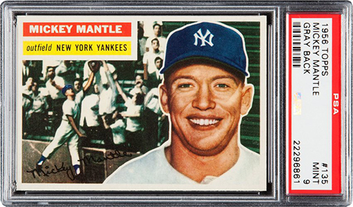 1956 Topps Mickey Mantle PSA 9