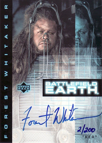 2000 Battlefield Earth Autographs Forest Whitaker
