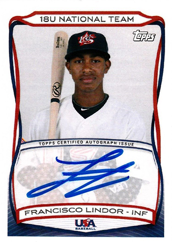 2010 Topps USA Autographs Francisco Lindor