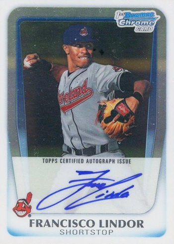 2011 Bowman Chrome Draft Francisco Lindor Autograph