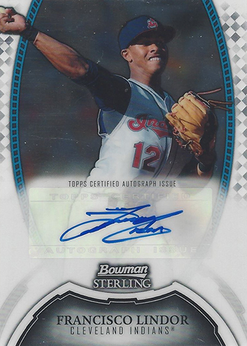 2011 Bowman Sterling Francisco Lindor Autograph