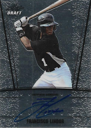 2011 Leaf Metal Francisco Lindor Autograph