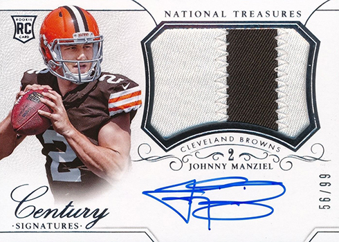 2014 National Treasures Johnny Manziel RC