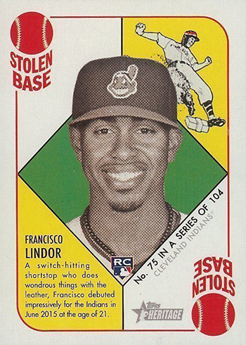 2015 Topps Heritage 51 Collection Francisco Lindor RC