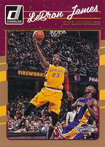 2016-17 Donruss Basketball Base LeBron James