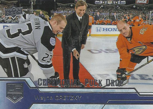 2016-17 UD Ceremonial Puck Drop CPD-9 Wayne Gretzky