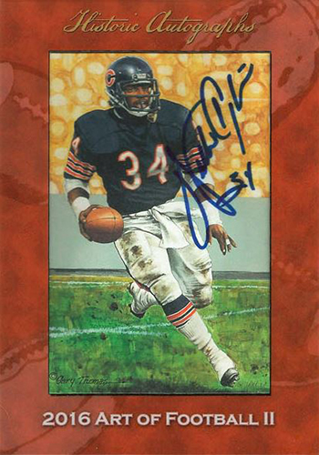 2016 Historic Autographs Art of Football Series 2 Walter Payton Autograph