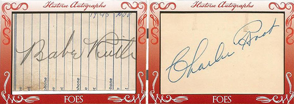 2016 Historic Autographs Friends N Foes Holiday Edition Babe Ruth Called Shot