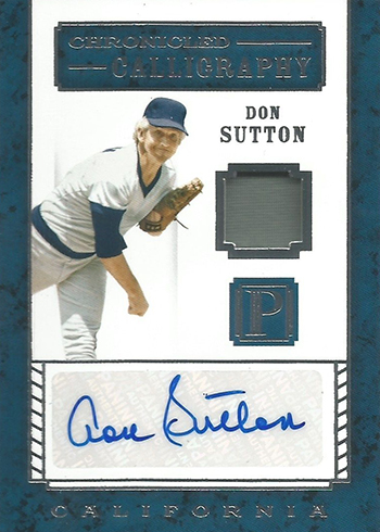 2016 Panini Pantheon Baseball Chronicled Calligraphy Don Sutton