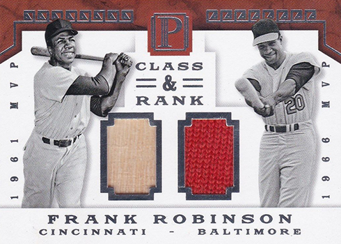2016 Panini Pantheon Baseball Class and Rank Duals Frank Robinson