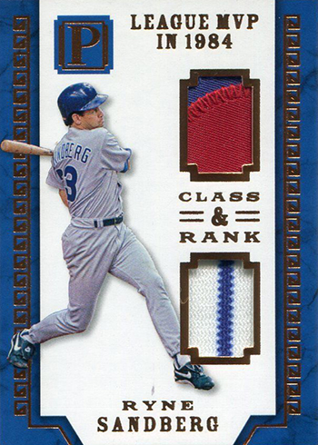 2016 Panini Pantheon Baseball Class and Rank Ryne Sandberg