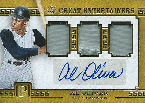2016 Panini Pantheon Baseball Great Entertainers Al Oliver