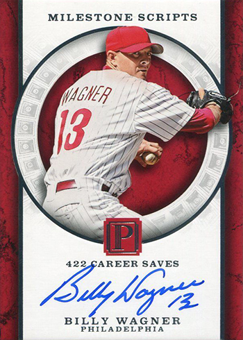 2016 Panini Pantheon Baseball Milestone Scripts Billy Wagner