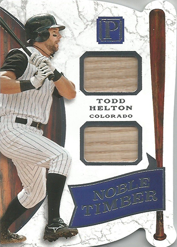 2016 Panini Pantheon Baseball Noble Timber Todd Helton