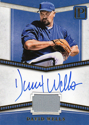 2016 Panini Pantheon Baseball Pantheon Script David Wells