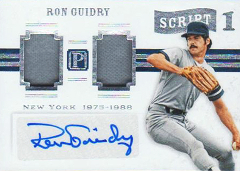 2016 Panini Pantheon Baseball Script 1 Ron Guidry