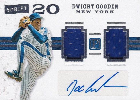 2016 Panini Pantheon Baseball Script 20 Dwight Gooden
