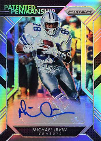 2016-Panini-Prizm-Michael-Irvin-Patented-Penmanship-Autograph