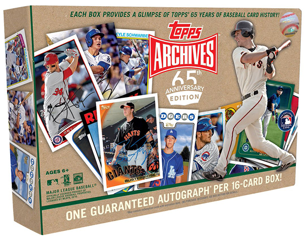 2016 Topps Archives 65th Anniversary Box