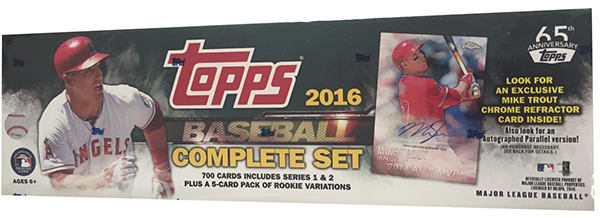 2016 Topps Baseball Factory Set Mike Trout Chrome