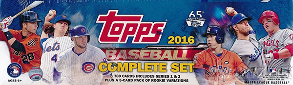 2016 Topps Baseball Factory Set Retail
