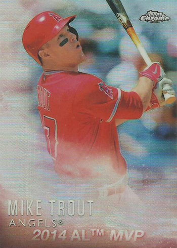 2016 Topps Baseball Mike Trout Factory Set Chrome M-2