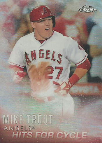 2016 Topps Baseball Mike Trout Factory Set Chrome MT-3