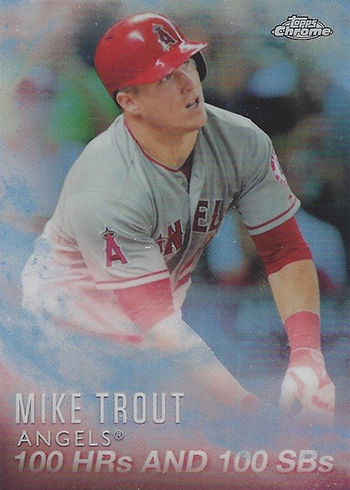2016 Topps Baseball Mike Trout Factory Set Chrome MT-5