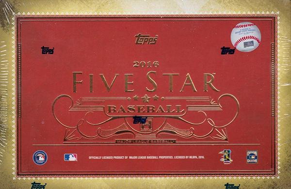2016 Topps Five Star Baseball Hobby Box