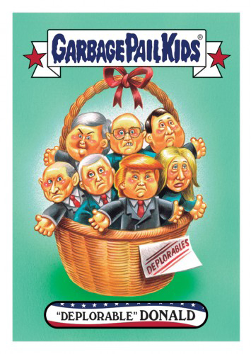 2016 Topps Garbage Pail Kids Dis-grace to the White House 66 Deplorable Donald