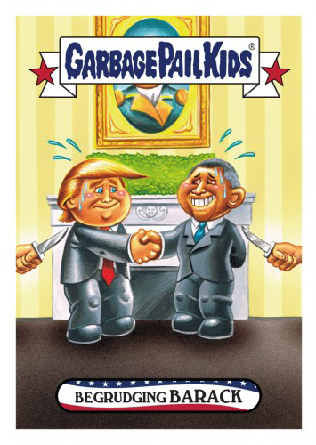 2016 Topps Garbage Pail Kids Dis-grace to the White House 67 Begrudging Barack
