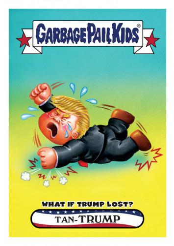 2016 Topps Garbage Pail Kids Dis-grace to the White House 69 Tan-Trump
