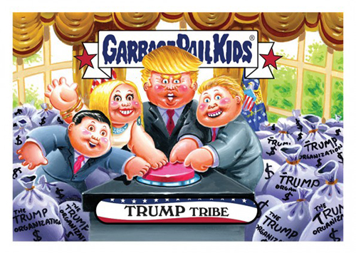 2016 Topps Garbage Pail Kids Dis-grace to the White House 77 Trump Tribe