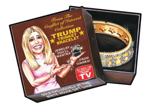 2016 Topps Garbage Pail Kids Dis-grace to the White House 82 Jewelry Youll Wantka from Ivanka