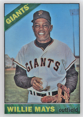 2016 Topps High Tek 1966 Short Print Willie Mays
