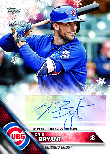2016 Topps Holiday Autograph Kris Bryant