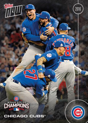 2016 Topps Now Chicago Cubs World Series Championship Team Set Card