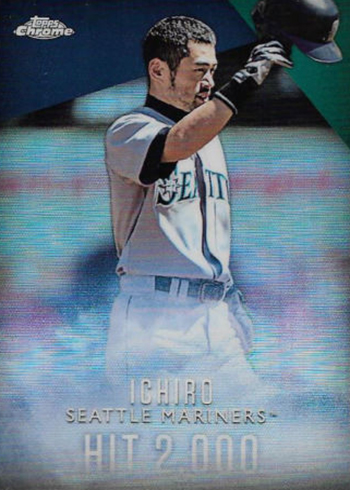 2016 Topps Retail Factory Set Ichiro Chrome Refractor I-3 Hit 2000