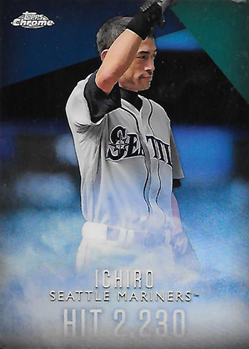 2016 Topps Retail Factory Set Ichiro Chrome Refractor I-4 Hit 2230