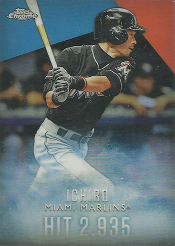 2016 Topps Retail Factory Set Ichiro Chrome Refractor I-5 Hit 2935