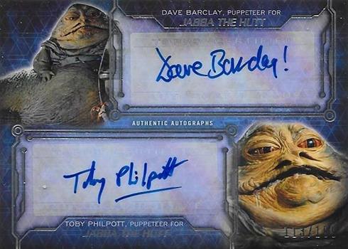 2016 Topps Star Wars Masterwork Dual Autograph Jabba