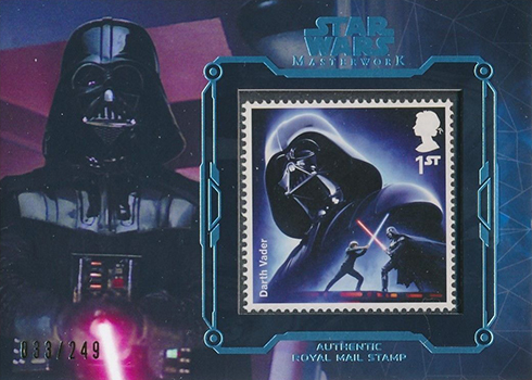 2016 Topps Star Wars Masterwork Stamp Darth Vader