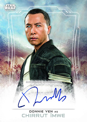 2016 Topps Star Wars Rogue One Autographs Donnie Yen as Chirrut Imwe