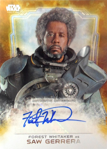 2016 Topps Star Wars Rogue One Autographs Forest Whitaker as Saw Gerrera