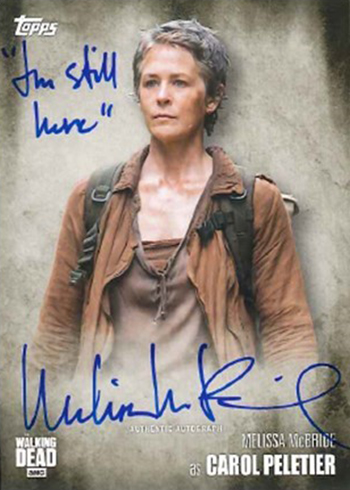 2016 Topps Walking Dead Season 5 Autographs Melissa McBride Inscribed