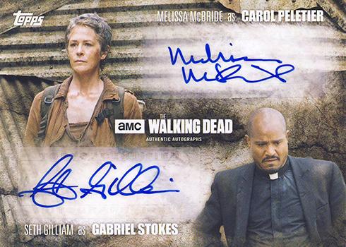2016 Topps Walking Dead Season 5 Dual Autograph Carol Gabriel
