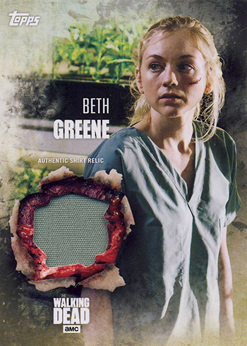 2016 Topps Walking Dead Season 5 Relic Beth