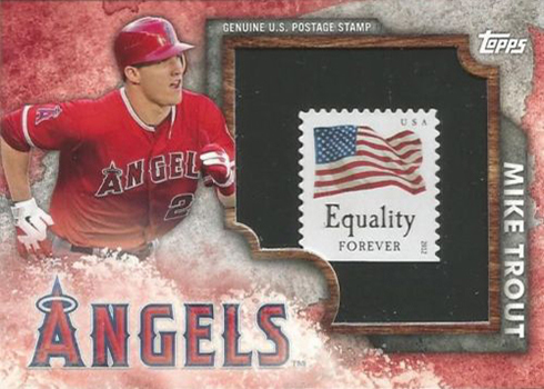 2016 Topps Walmart Factory Set Mike Trout Stamp