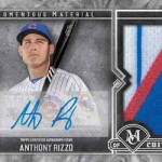 2017 Topps Museum Collection Baseball Momentous Material Autograph Relic