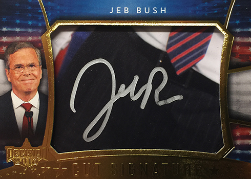 Decision 2016 Series 2 Jeb Bush Autograph